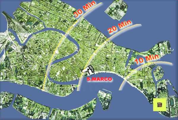 MappaVenezia and walking distances from BBvenezia - click on the map to see more